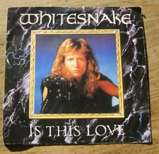 """EX   WHITESNAKE - Is This Love (Edit) / Standing In The Shadows - 7"""" single"""