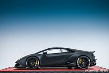 1/18 MR Collection Lamborghini Huracan Coupe Liberty Walk Matt Black Red Base