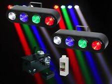2 x Equinox Beamer & Fumo Pacchetto LED 4 Lens trave discoteca effetto luce DJ