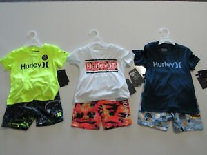 Hurley Boys 2 Piece Shirt Shorts Swim Set 783974 Nwt