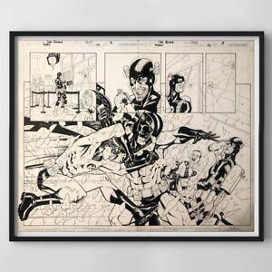 Original Comic Art Batman/Robin Chris Batista