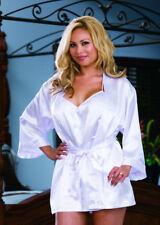 39e3892659 White Bridal Babydoll Satin Robe Wedding Nightwear Plus Size 18-20 Dreamgirl