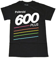 Polaroid 600 Plus Black Men's Graphic T-Shirt New