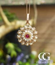 Pearl Ruby Fine Necklaces & Pendants