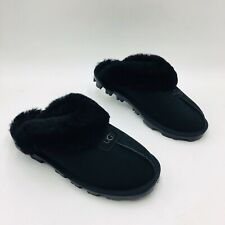 UGG Women's Coquette Slide Slipper Size 8M Black Suede, MSRP $120