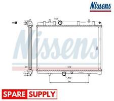 RADIATOR, ENGINE COOLING FOR CITROËN DS PEUGEOT NISSENS 63606A