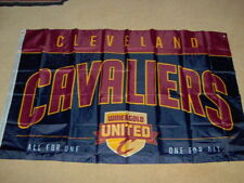 CLEVELAND CAVALIERS BANNER/FLAG BRAND NEW 36 x 58 WINE & GOLD UNITED ALL FOR ONE