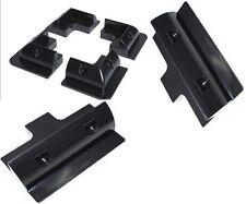 solar panel mounting brackets corner brackets plastic ABS caravan boat Black