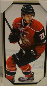 Halifax Mooseheads Nathan MacKinnon Signed NHL Autographed 14x28 Canvas Hockey