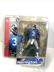 "Joey Harrington #3 Detroit Lion's NFL 6"" Figure Factory Sealed New 😃"