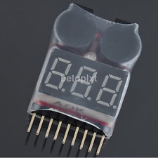High Quality RC Battery Low Voltage Alarm 1S-8S Buzzer Indicator Checker Tester