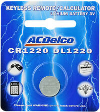 CR1220 Lithium Watch Remote Batteries DL1220 3V Battery ACDelco 1 Battery