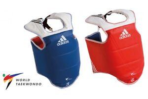 Adidas WT Taekwondo Body Armour TKD Chest Protector Guard Reversible Adult Kids