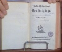 Blum Joachim Christian: Spaziergänge 1782 Erstausgabe äusserst selten
