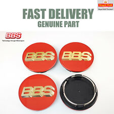 4x Genuine BBS Centre Caps Red and 3D Gold BBS Logo 70.6mm CH CH-R NEW