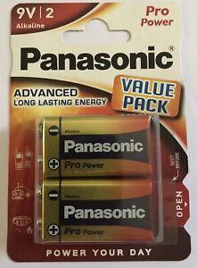 Panasonic 9V Pro Power 6LF22 MN1604 PP3 EXP2024