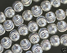 SPARKLING SILVER-PLATED COPPER LASERCUT BEADS 8MM 16.5""