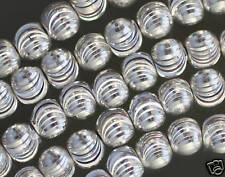 Luccicante Placcati Argento Rame Taglio Laser Perline 6MM 41.9cm (5 Filamenti)