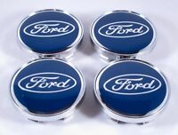 SET of 4 Blue Ford 60mm Center Caps 2 3/8 Inch Hub Caps ALL Ford MODELS