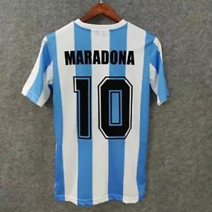 Diego Maradona Argentina 1986 Soccer Football Shirt 1986 Jersey