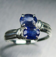 2.6cts Natural royal blue sapphire 925 Sterling Silver knot engagement ring