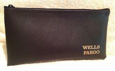 Lot 1 Brand New Wells Fargo Bank Deposit Bag Money Bag With Zipper Faux Leather