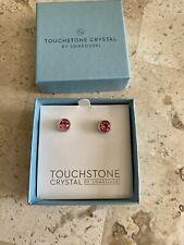 New In Box Touchstone Crystal Rose Ice Earrings