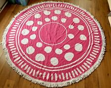 "NWT POTTERY BARN KIDS ROUND BEACH TOWEL 60"" DIAMETER PIN DROP"