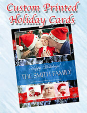 25 Custom Personlized and Printed 4x6 Holiday Family Picture Cards Postcards