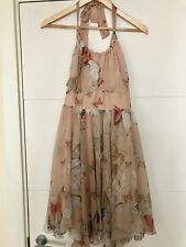 Womens Lipsy Butterfly Print Dress Size 10 Evening Dress Prom