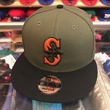 8a68c83f90eaa9 New Era Seattle Mariners Snapback Hat Olive/Black/Orange jordan 4 6  undefeated
