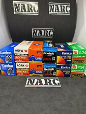 12x 110mm film lot fuji agfa Konica Panagor pocket lomography expired film