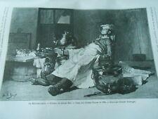 La Besongne faite d'après Joseph Bail Gravure Print 1893