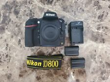 Nikon D800 36.3MP (Body Only) only 19K! shutter count + Extra battery + Bag