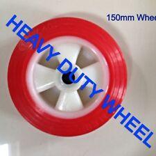 6 INCH / 150MM RED POLYURETHANE WHEEL HEAVY DUTY
