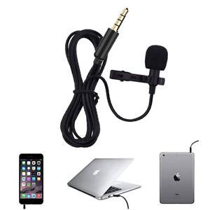 O07 TOP Lavalier Aufsteckmikrofon Mikrofon für 3.5mm Smartphone Tablet PC Laptop