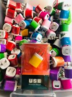 100x Lot 1.0A USB  Home Adapter Wall Charger Universal Plug iPhone/Samsung New