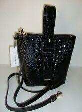 NWT BRAHMIN Melbourne Faith Convert Pouchete & Crossbody Bag Black Emb Leather