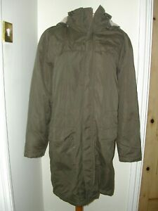 COTTON TRADERS LADIES FLEECE LINED HOODED PARKA COAT SIZE 18