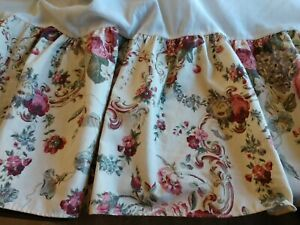 Laura Ashley Floral Queen Bedskirt USA MADE