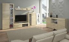 Living Room Furniture Set Sonoma Cabinet Cupboard TV Shelf Entertainment Unit White With Sideboard