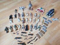26 Hasbro Star Wars Figuren mit Zubehör und 4 Raumschiffe