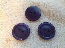 NEW 25 3/4  INCH NAVY BLUE PEARL FINISH BUTTON 2 HOLE W/RIM