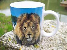 NA0776  CHOPE  TASSE  MUG LION LIONNE   SAFARI  AFRIQUE     CERAMIQUE 20%