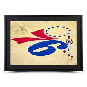 """Ben Simmons Signed Autographed 20X30 Framed Photo """"One Step at a Time"""" 76ers UDA"""