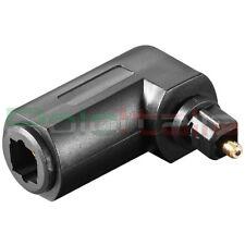Adattatore angolato90 audio TOSLINK ingresso stereo a cavo fibra ottico digitale