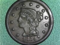 UNITED STATES--1854  Braided Hair Liberty Head Large Cent