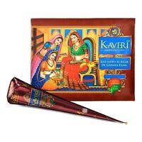12 Cones Natural Kaveri Temporary Tattoo Mehandi Herbal Henna Cones Body Art Kit