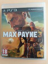 Jeu MAX PAYNE 3 Sony Playstation 3 PS3 PAL VF FRA NEUF SOUS BLISTER