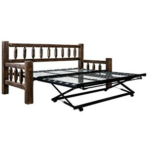 Farmhouse style Daybed with Trundle Amish Made  Day Bed with Pop Up Trundles